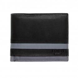 Portafoglio in pelle uomo ENRICO COVERI WORLD con portamonete porta carte e ribaltina Nr.:03