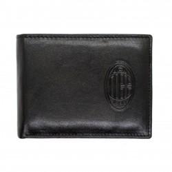 Portafoglio AC Milan in Vera Pelle uomo  con portamonete porta carte e ribaltina Mod.: 141290