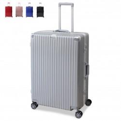 Valigia Trolley Piccolo Medio Grande In Alluminio e ABS 8 Ruote Con lucchetto TSA