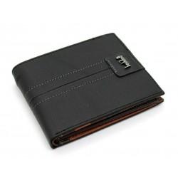Portafoglio uomo in vera pelle con portamonete porta carte e ribaltina Mod.: L-2
