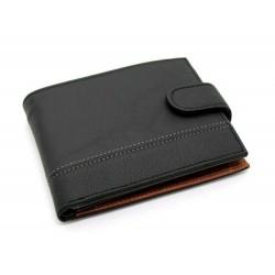Portafoglio uomo in vera pelle con portamonete porta carte e ribaltina Mod.: L-5