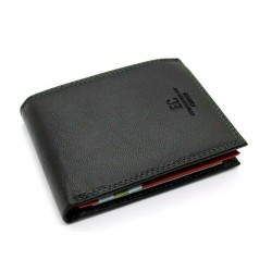 Portafoglio uomo ENRICO COVERI in pelle con portamonete porta carte e ribaltina Mod.: 826