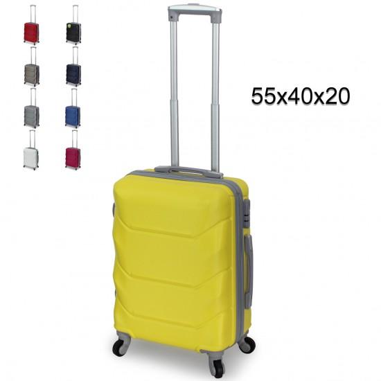 Valigia Trolley ORMI Bagaglio a Mano 55x40x20 Rigido con 4 Ruote 360° Bagagli a Mano
