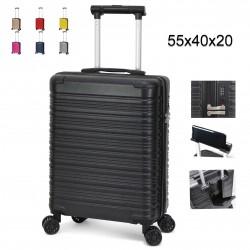 Trolley ORMI bagaglio a mano 55x40x20 rigido con lucchetto TSA