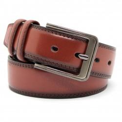 Cintura Lucida da Uomo in Vera Pelle Cuoio Casual Classica Accorciabile S-035