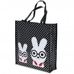 Borsa Donna In Plastica Shopper Busta Spesa Casual Universale Coniglietti