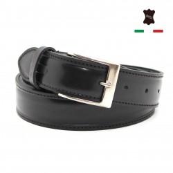 Cintura Uomo in Vera Pelle Cuoio Casual Classica Accorciabile Made in Italy
