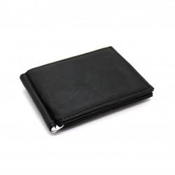 Portafoglio uomo slim in ecopelle portamonete ferma banconote con clip