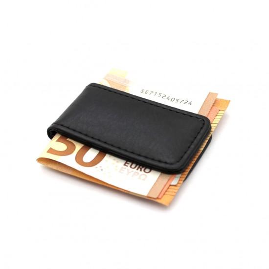 Fermasoldi uomo slim magnetico in ecopelle porta banconote