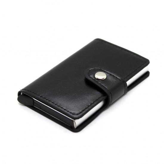 Porta carte di credito slim in alluminio clip porta banconote