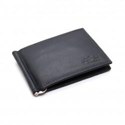 Portafoglio uomo CHARRO slim pelle con clip per banconote porta carte portamonete
