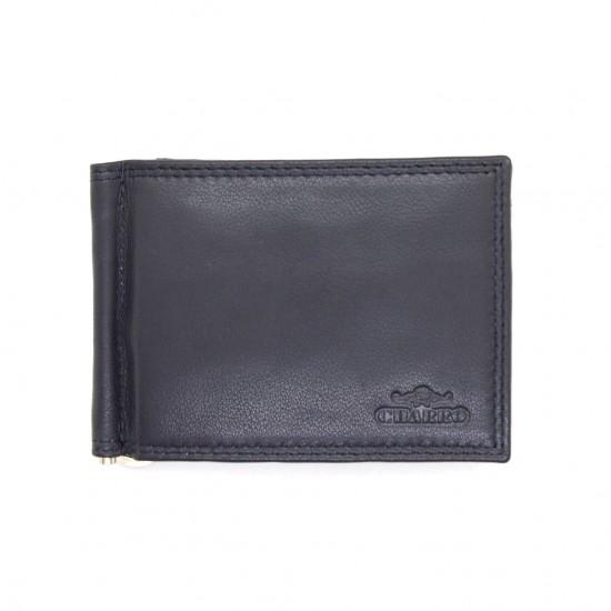Portafoglio uomo CHARRO slim pelle clip banconote portamonete