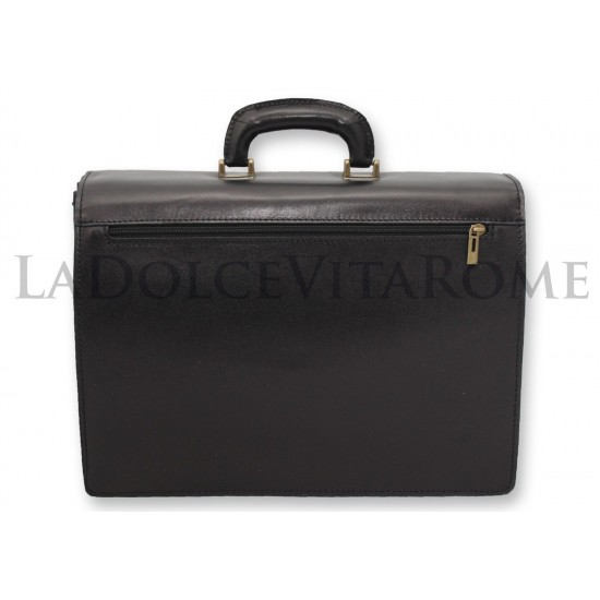 BORSA CARTELLA IN VERA PELLA PORTA DOCUMENTI VENTIQUATTRORE OFFICIO Made in Italy Cartelle Ventiquattrore