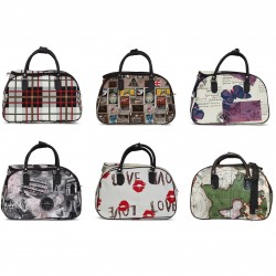 Set borse da viaggio Tempo Libero Bauletto Bag Piccola Media Grande Con Tracolla