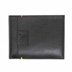 Portafoglio AS ROMA in vera pelle con portamonete porta carte e ribaltina mod.: 161303