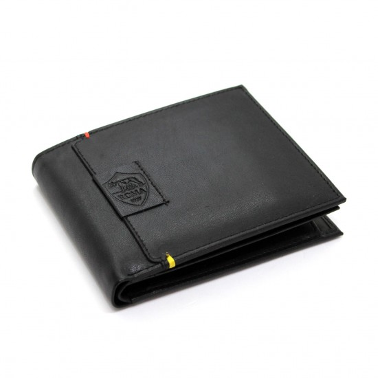 Portafoglio uomo AS ROMA Pelle portamonete porta carte ribaltina