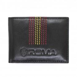 Portafoglio AS ROMA in vera pelle con portamonete porta carte e ribaltina mod.: 161309