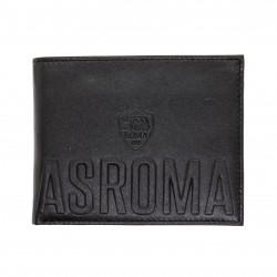 Portafoglio AS ROMA in Vera Pelle uomo con portamonete porta carte e ribaltina Mod.: 161307