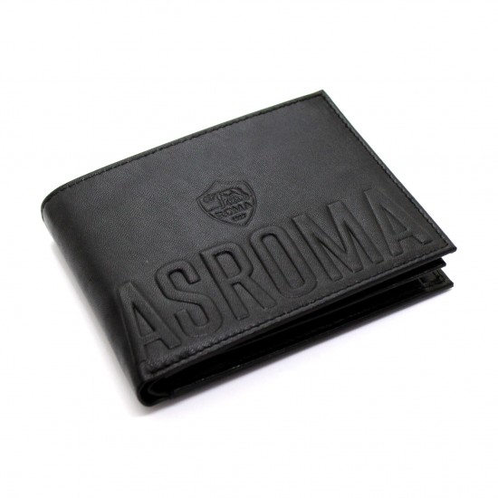 Portafoglio AS ROMA in Vera Pelle uomo con portamonete porta carte e ribaltina Mod.: 085 Portafogli