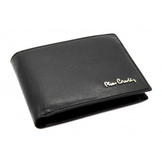9575cc0d85 Portafoglio Pierre Cardin in pelle uomo con portamonete porta carte e  ribaltina Portafogli