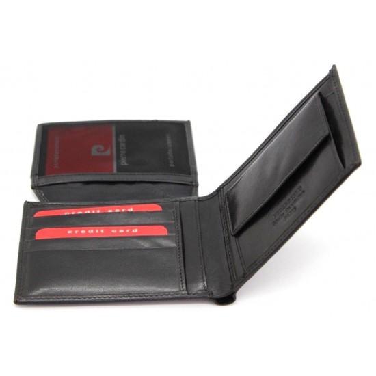 Portafoglio Pierre Cardin in pelle uomo con portamonete porta carte e ribaltina Portafogli