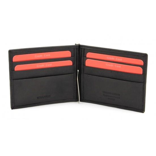 Portafoglio Slim Pierre Cardin in pelle con porta carte e porta banconote Porta carte