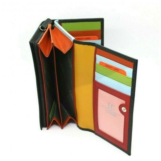 Portafoglio Donna Enrico Coveri in Vera Pelle Portamonete Borsellino Borsello Mod.:826 Portafoglio Donna