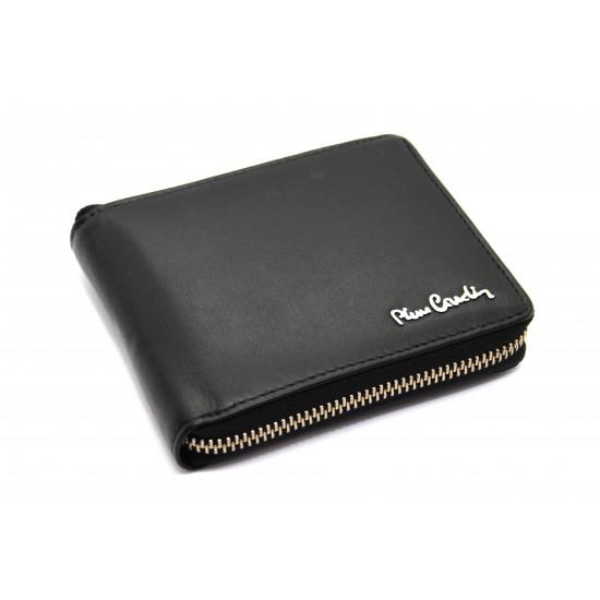 Portafoglio in pelle uomo Pierre Cardin con chiusura zip e protezione RFID 8818 Portafogli