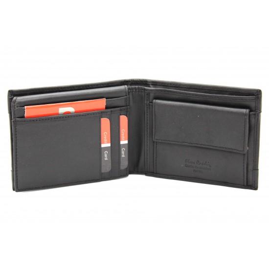 Portafoglio RFID Pierre Cardin in pelle uomo portamonete porta carte e ribaltina Mod.:8806 Portafogli