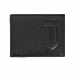 Portafoglio in Vera Pelle JUVENTUS FC con portamonete porta carte e ribaltina Mod.:131305