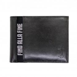 Portafoglio in Vera Pelle JUVENTUS FC con portamonete porta carte e ribaltina Mod.:131301