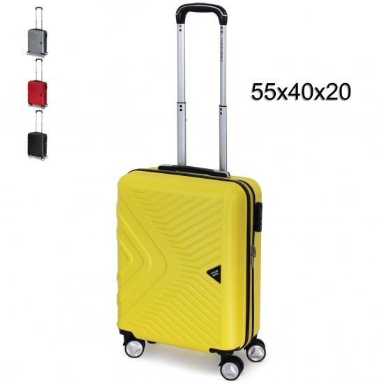 Valigia Trolley COVERI WORLD Bagaglio a Mano 55x40x20 Rigido con 4 Ruote  Bagagli a Mano