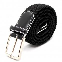 Cintura Uomo Donna Casual Elastica Stretch Intrecciata In Corda Regolabile