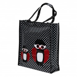 Borsa Donna Shopper In Plastica Busta Spesa Casual Universale Gufo