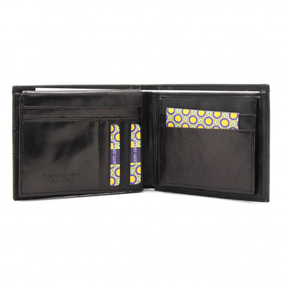 Portafoglio in pelle CHARRO con porta carte, ribaltina e portamonete