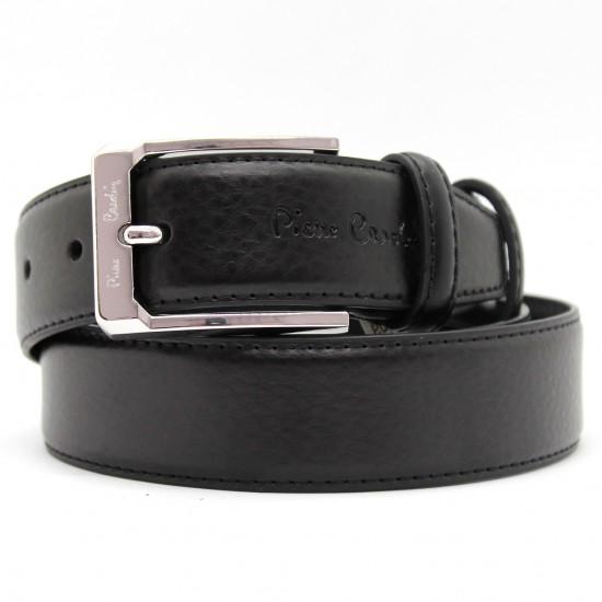 Cintura in pelle Pierre Cardin casual classica accorciabile