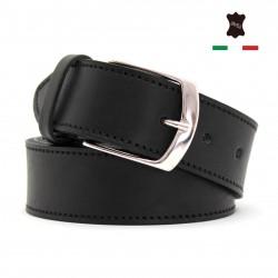 Cintura uomo in vera pelle cuoio Made in Italy casual classica accorciabile M250