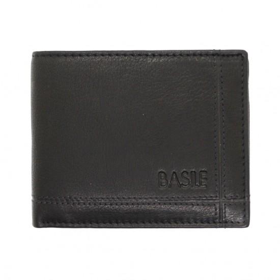 Portafoglio in pelle uomo slim porta carte Basile con portamonete  Portafogli uomo