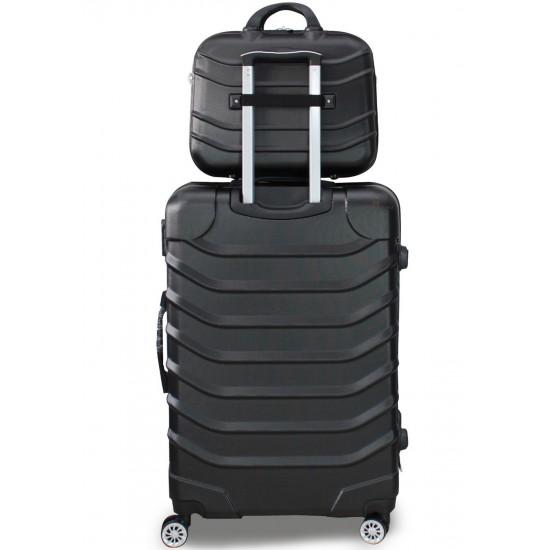 Beauty Case Con Tracolla Set 3 Beauty Case  Rigido Ultraleggere Bagaglio a Mano