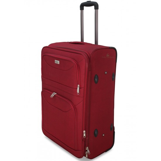 Valigia Bagaglio a Mano 55x38x20 ESPANDIBILE IN POLIESTERE Con 2 Ruote Bagagli a Mano