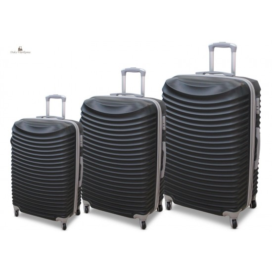 Set 3 Trolley Rigido In ABS Con 4 RUOTE ORMI Mod.:2030 Set Di Valigie
