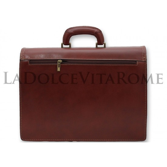 BORSA CARTELLA  PORTADOCUMENTI VENTIQUATTRORE OFFICIO Vera Pelle Made in Italy