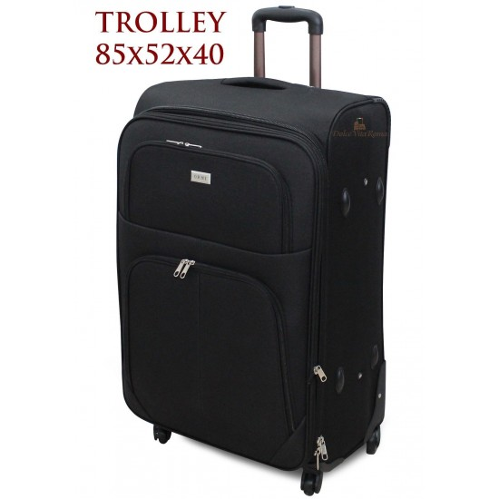 Trolley GRANDE EXTRA LARGE XXL ESPANDIBILE IN POLIESTERE 4 RUOTE Mod.: 214 ORMI Trolley