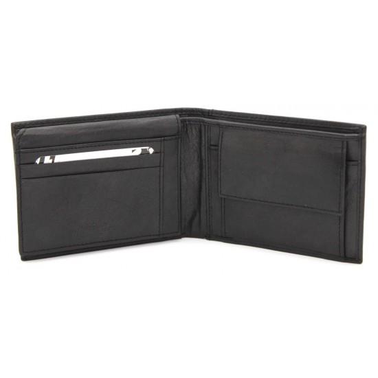 Portafoglio in Vera Pelle JUVENTUS FC con portamonete porta carte e ribaltina Mod.:131290 Portafogli