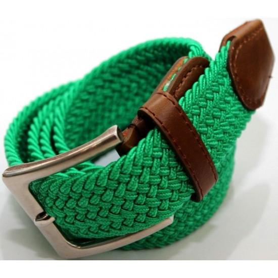 Cintura Cinta Uomo Donna Elastica Stretch Intrecciata In Corda Regolabile Casual Cinture