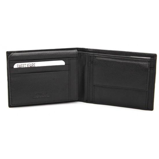 Portafoglio Uomo SWEET YEARS in pelle con portamonete porta carte e ribaltina Portafogli