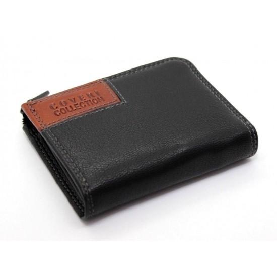 Porta carte di credito in vera pelle portatessere bancomat uomo ENRICO COVERI  Porta carte