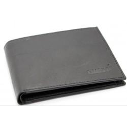 Portafoglio in pelle uomo CHARRO con portamonete porta carte e ribaltina morbido