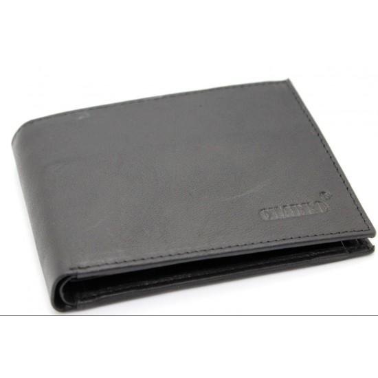 322fbbdb98 Portafoglio in pelle uomo CHARRO con portamonete porta carte e ribaltina  morbido Portafogli
